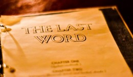 The Last Word - by Kristin Slater